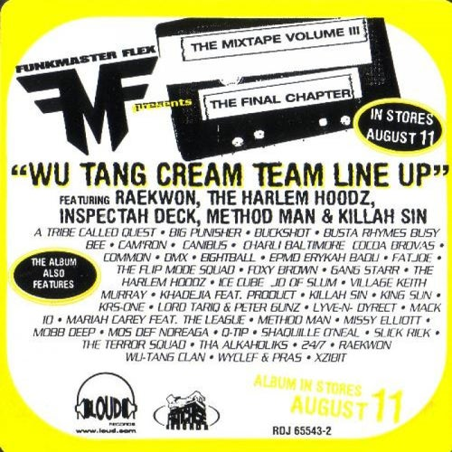 Wu-Tang Cream Team Line Up
